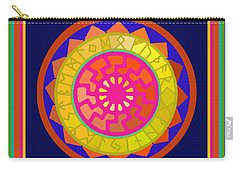 Black Sun Mandala Rune Calendar Carry-all Pouch