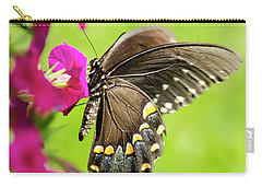 Carry-all Pouch featuring the photograph Black Swallowtail Butterfly by Christina Rollo