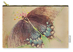 Black Swallowtail Butterfly Framed  Carry-all Pouch