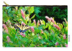 Carry-all Pouch featuring the photograph Black Swallowtail by EDi by Darlene