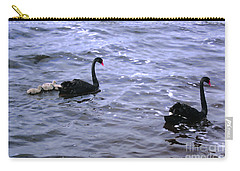 Black Swan Family Carry-all Pouch by Cassandra Buckley
