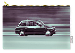Black Taxi Bw Blur Carry-all Pouch