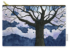 Black Tree At Night Carry-all Pouch
