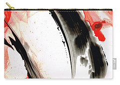 Carry-all Pouch featuring the painting Black White Red Art - Tango 3 - Sharon Cummings by Sharon Cummings