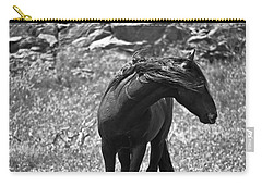 Black Wild Mustang Carry-all Pouch