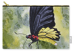 Carry-all Pouch featuring the painting Black Winged Yellow Fellow by Sam Sidders