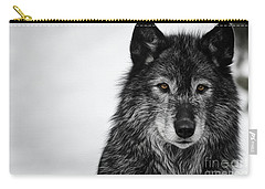 Black Wolf I Carry-all Pouch
