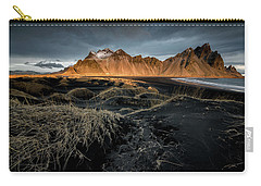 Blackbeach And Vestrahorn Carry-all Pouch by Allen Biedrzycki