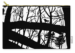 Blackbird In The Woods Carry-all Pouch by Martin Stankewitz