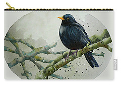 Blackbird Painting Carry-all Pouch by Alison Fennell