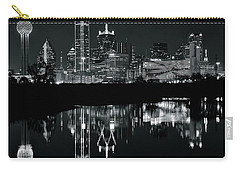 Blackest Night In Big D Carry-all Pouch by Frozen in Time Fine Art Photography