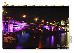 Blackfriars Bridge Illuminated In Purple Carry-all Pouch