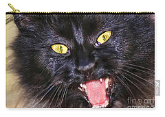 Carry-all Pouch featuring the photograph Blackie by Geraldine DeBoer
