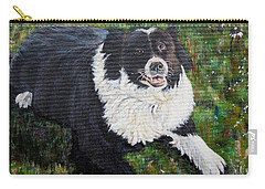 Carry-all Pouch featuring the painting Blackie by Marilyn  McNish