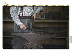 Carry-all Pouch featuring the photograph Blacksmith At Work by Liane Wright
