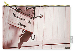 Carry-all Pouch featuring the photograph Blacksmith Shop by Alexey Stiop