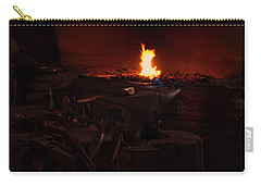 Blacksmith Shop Carry-all Pouch by Chris Flees