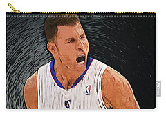 Carry-all Pouch featuring the digital art Blake Griffin by Taylan Apukovska