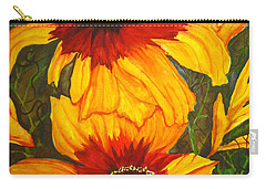 Blanket Flower Carry-all Pouch by Lil Taylor