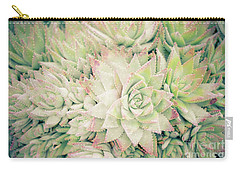 Carry-all Pouch featuring the photograph Blanket Of Succulents by Ana V Ramirez