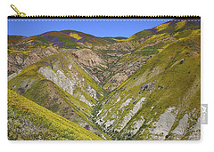 Blanket Of Wildflowers Cover The Temblor Range At Carrizo Plain National Monument Carry-all Pouch