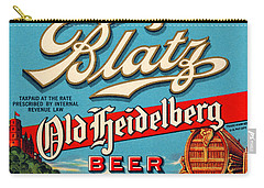Blatz Old Heidelberg Vintage Beer Label Restored Carry-all Pouch
