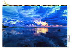 Blazing Blue Sunset Carry-all Pouch