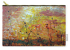 Carry-all Pouch featuring the painting Blazing Prairie by Jacqueline Athmann