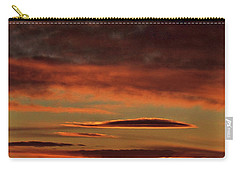 Carry-all Pouch featuring the photograph Blazing Sunset by Bryan Carter