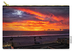 Blazing Sunset Over Malibu Carry-all Pouch
