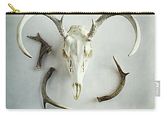 Bleached Stag Skull Carry-all Pouch