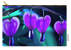 Bleeding Hearts In Moon Light Carry-all Pouch