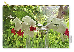 Bleeding Hearts Painted Rocks Carry-all Pouch