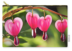 Bleeding Hearts Carry-all Pouch by Skip Tribby
