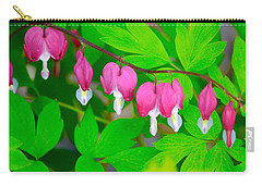Bleeding Hearts Carry-all Pouch by Tiffany Erdman