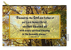 Carry-all Pouch featuring the photograph Blessed Be God by Sonya Nancy Capling-Bacle