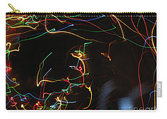 Carry-all Pouch featuring the photograph Blizzard Of Colorful Lights. Dancing Lights Series by Ausra Huntington nee Paulauskaite
