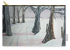 Carry-all Pouch featuring the painting Blizzards Over by Jack G Brauer