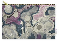 Carry-all Pouch featuring the digital art Blobs - 01c01 by Variance Collections