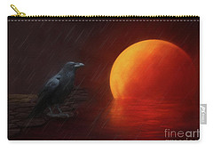 Blood Moon Crow Carry-all Pouch