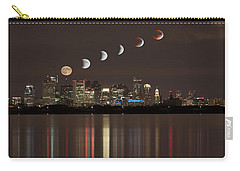 Blood Moon Lunar Eclipse Over Boston Massachusetts Carry-all Pouch