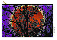 Blood Moon Trees Carry-all Pouch by Barbara Tristan