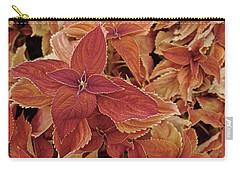 Blood-orange Coleus Carry-all Pouch by Tim Good