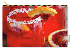 Carry-all Pouch featuring the photograph Blood Orange Margaritas On The Rocks by Teri Virbickis