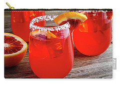 Carry-all Pouch featuring the photograph Blood Orange Margaritas by Teri Virbickis