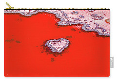 Blood Red Heart Reef Carry-all Pouch by Az Jackson