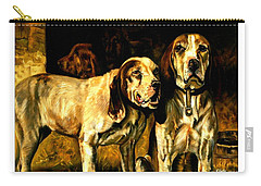 Carry-all Pouch featuring the painting Bloodhounds Lou Ellen Chattin 1914 by Peter Gumaer Ogden