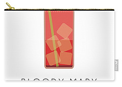 Bloody Mary Classic Cocktail - Minimalist Print Carry-all Pouch by Studio Grafiikka