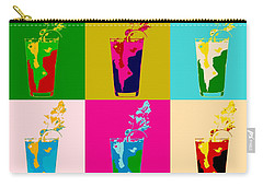 Bloody Mary Pop Art Panels Carry-all Pouch by Dan Sproul