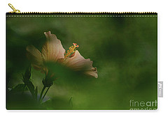 Carry-all Pouch featuring the photograph Bloom Through The Bush by Debby Pueschel